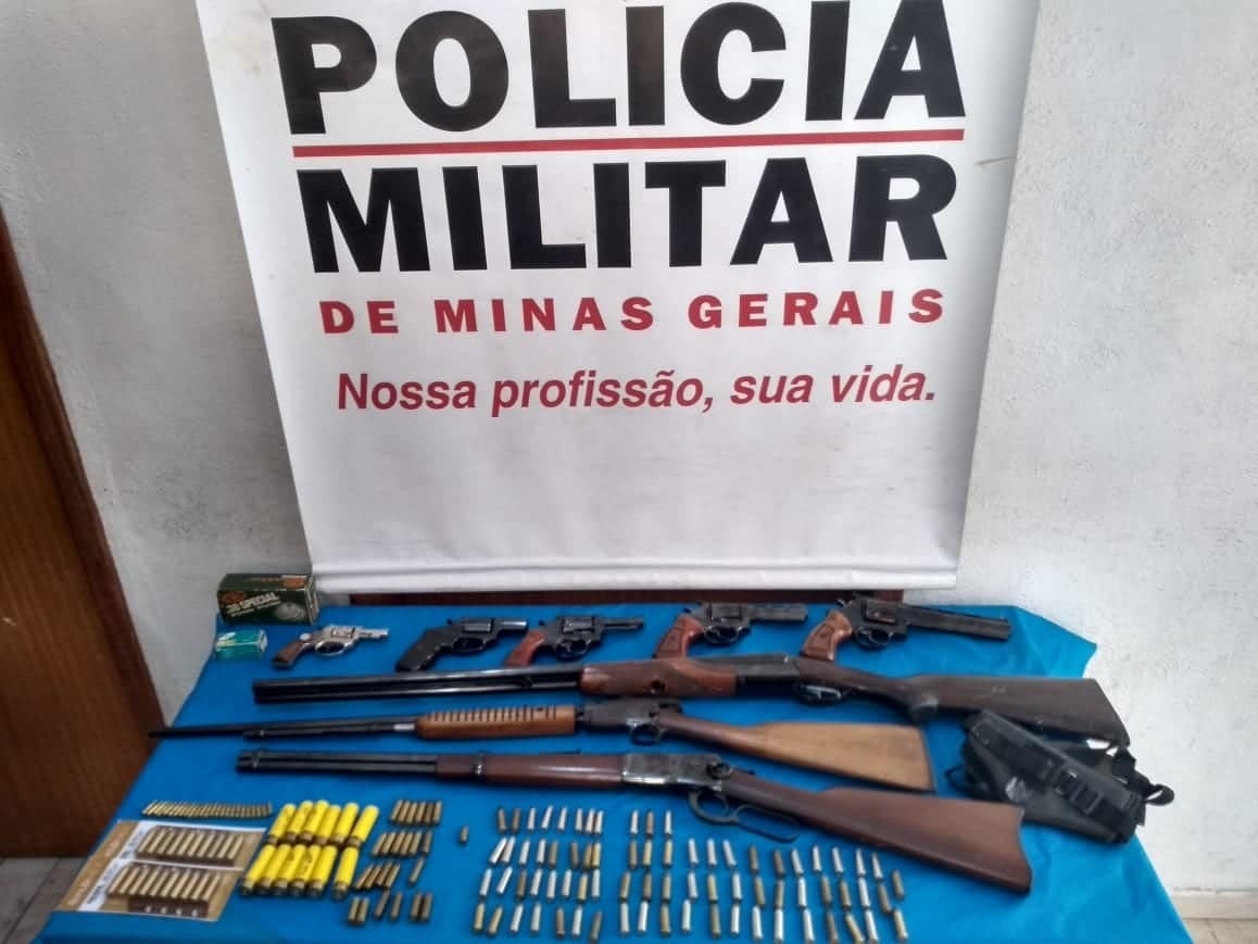 Armas de fogo e munições são apreendidas em Belmiro Braga, MG - Noticias
