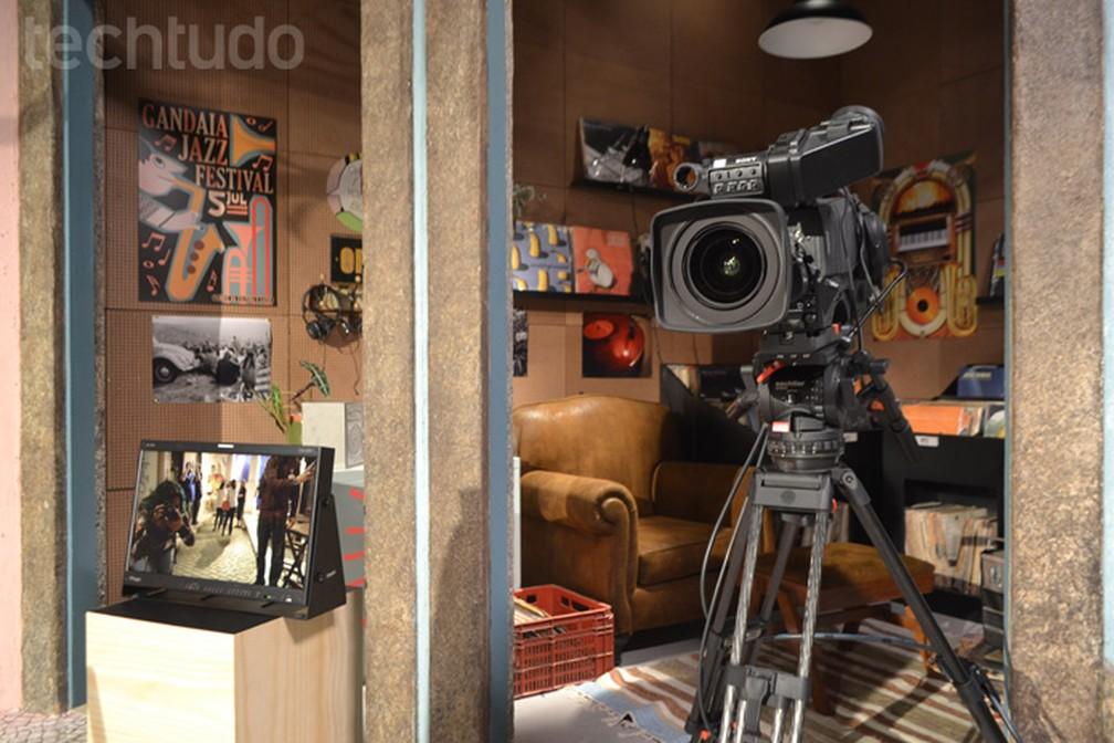 Estúdios do YouTube Space oferecem recursos profissionais de vídeo (Foto: Melissa Cruz Cossetti / TechTudo)