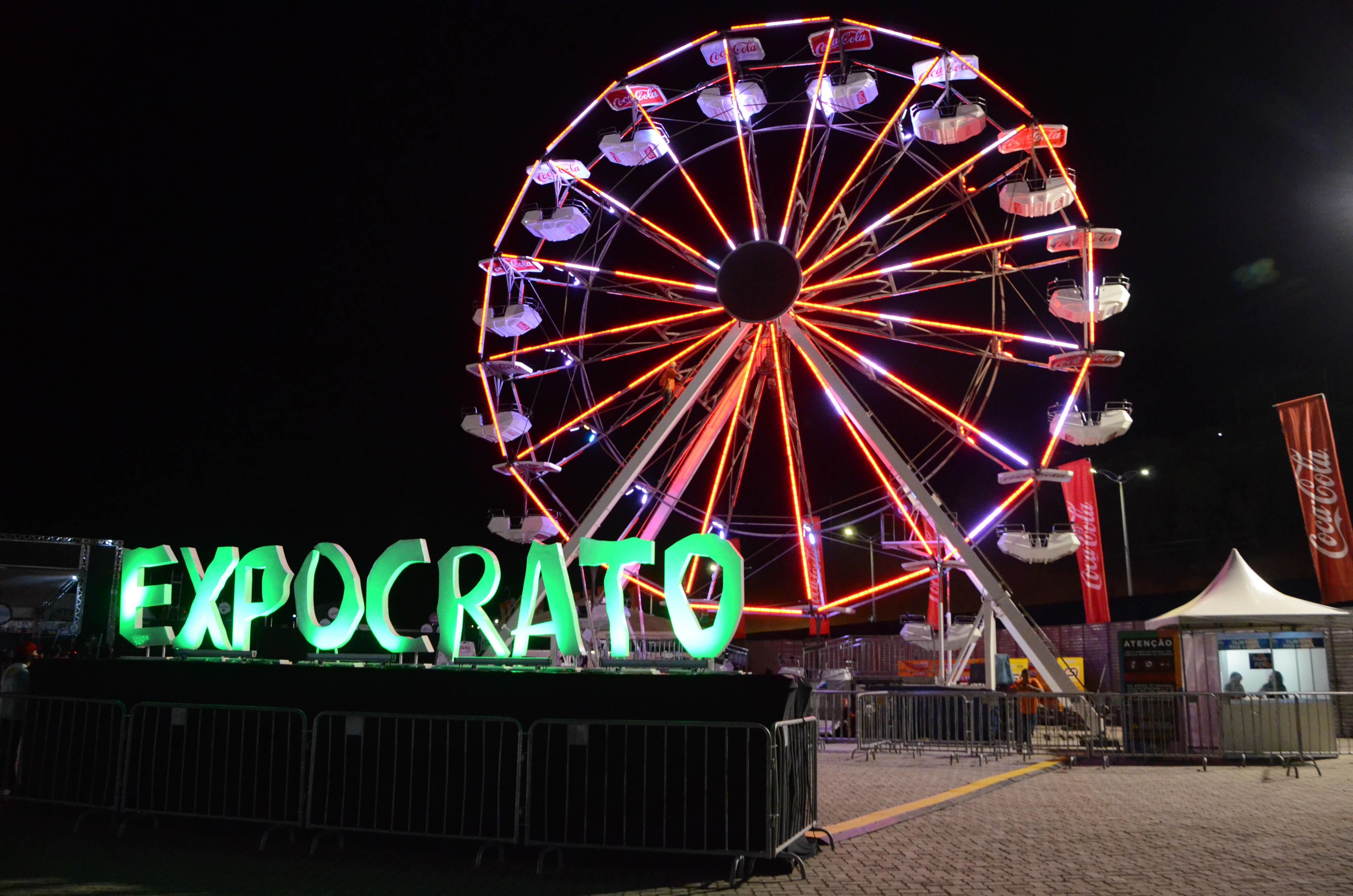 Roda gigante é nova opção de diversão na Expocrato 2018
