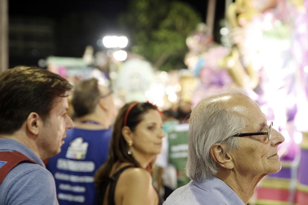 Vice-prefeito do Rio, Fernando Mc Dowell acompanhou desfile das escolas de samba em fevereiro desse ano. (Foto: Marcos Serra Lima/G1)