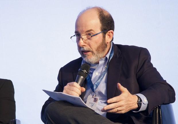 Economista Armínio Fraga durante palestra no evento GovTech, em São Paulo (Foto: Luis Simione)