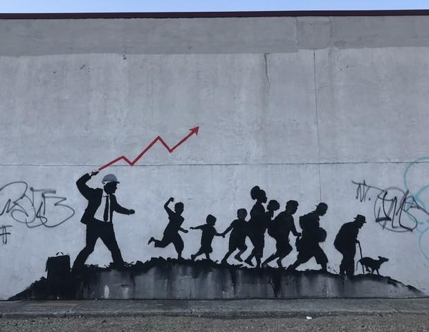 Nova arte de Banksy em Nova York (Foto: reprodução)