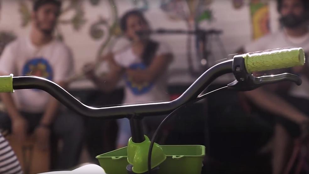 """Evento Picnik oferece """"guarda-bikes"""" gratuito em Brasília — Foto: TV Globo/Reprodução"""