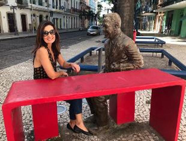 Fátima Bernardes em Recife (Foto: Reprodução/Instagram)