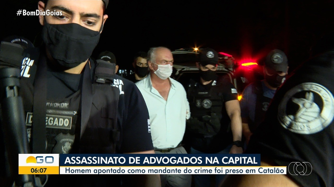 Suspeito de mandar matar dois advogados dentro de escritório em Goiânia é preso