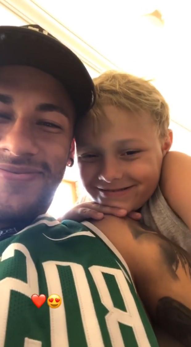 Neymar e Davi Lucca (Foto: Reprodução/Instagram)