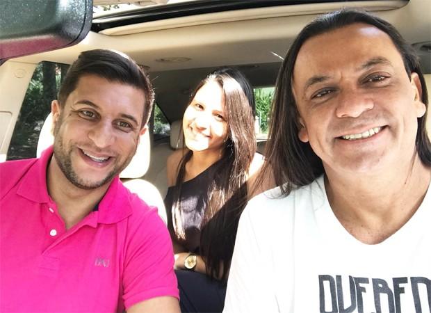 Junior Donatto, Carol Santos e Frank Aguiar (Foto: Reprodução/Instagram)