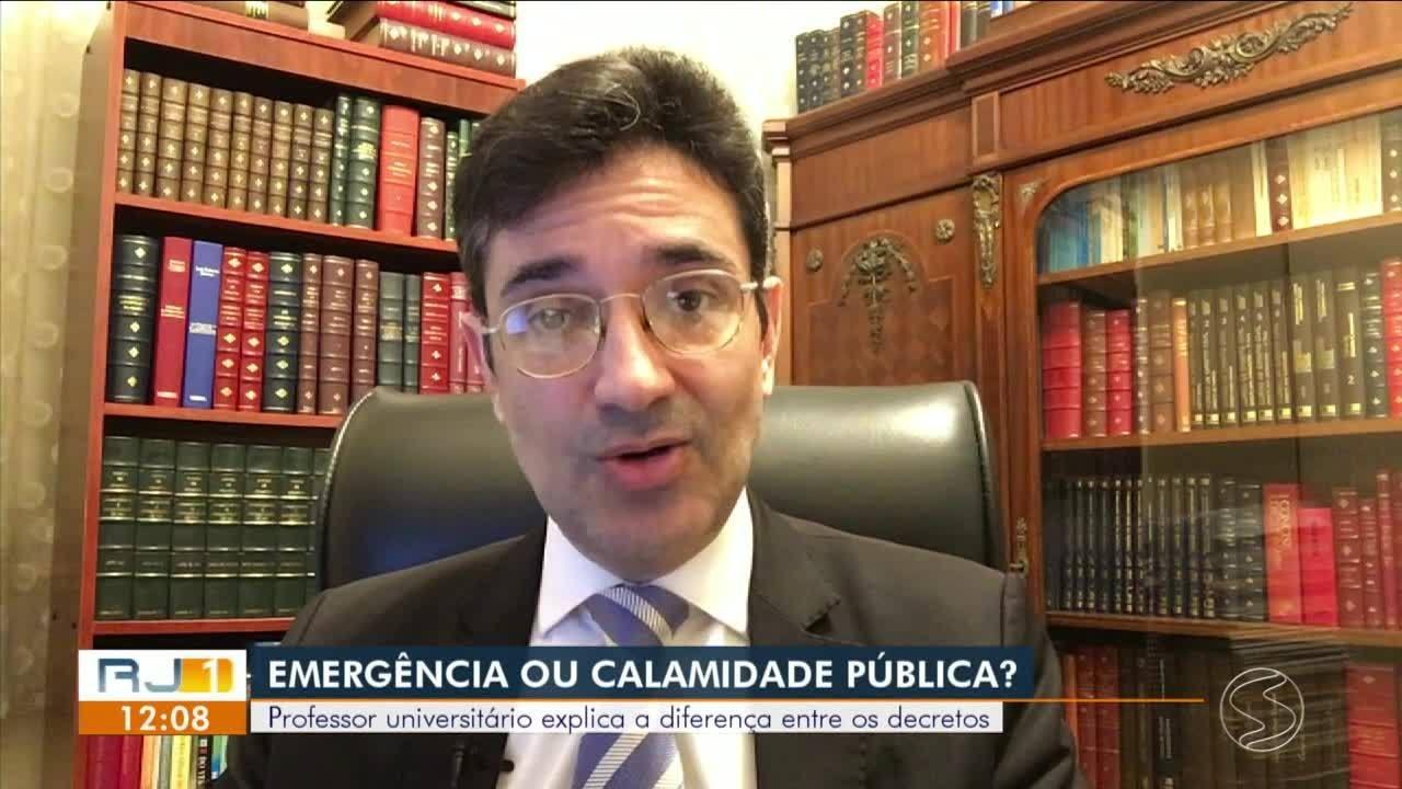 Professor explica diferença entre decreto de emergência e de calamidade pública