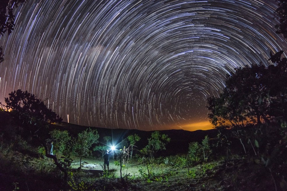 Fotógrafo de Brasília registra Via Láctea — Foto: Leo Caldas/Arquivo pessoal