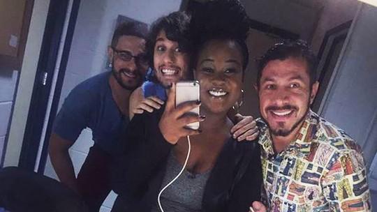 Daniel, Pedro, Roberta e Rômulo estão nos Estúdios Globo para lavar roupa suja no BBB17
