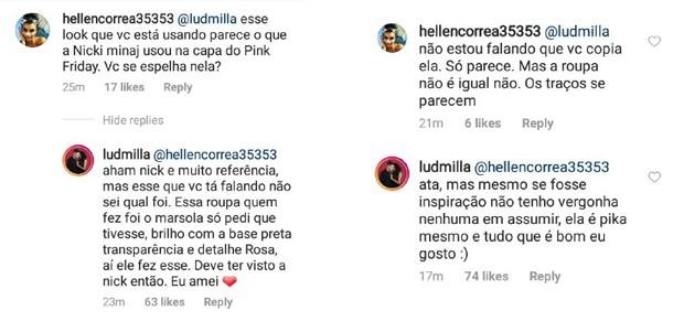 Ludmilla responde a comparações com Nicki Minaj (Foto: Reprodução/Instagram)