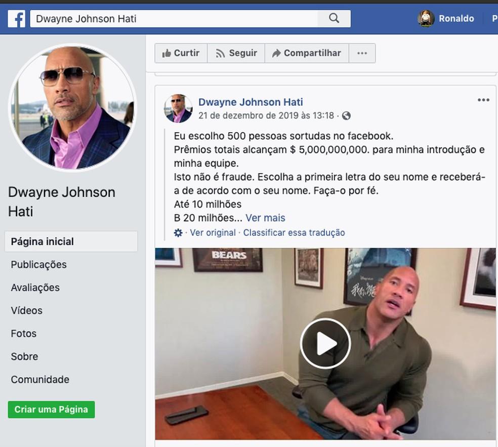 Suposta Promoção do Facebook que dá prêmios por compartilhamento — Foto: Reprodução