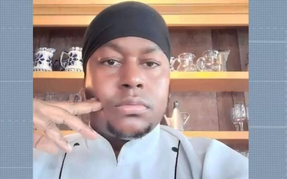 Cozinheiro, Robson Santos, morreu após sofrer descarga elétrica durante o trabalho em uma pousada de Trancoso — Foto: Reprodução/TV Bahia