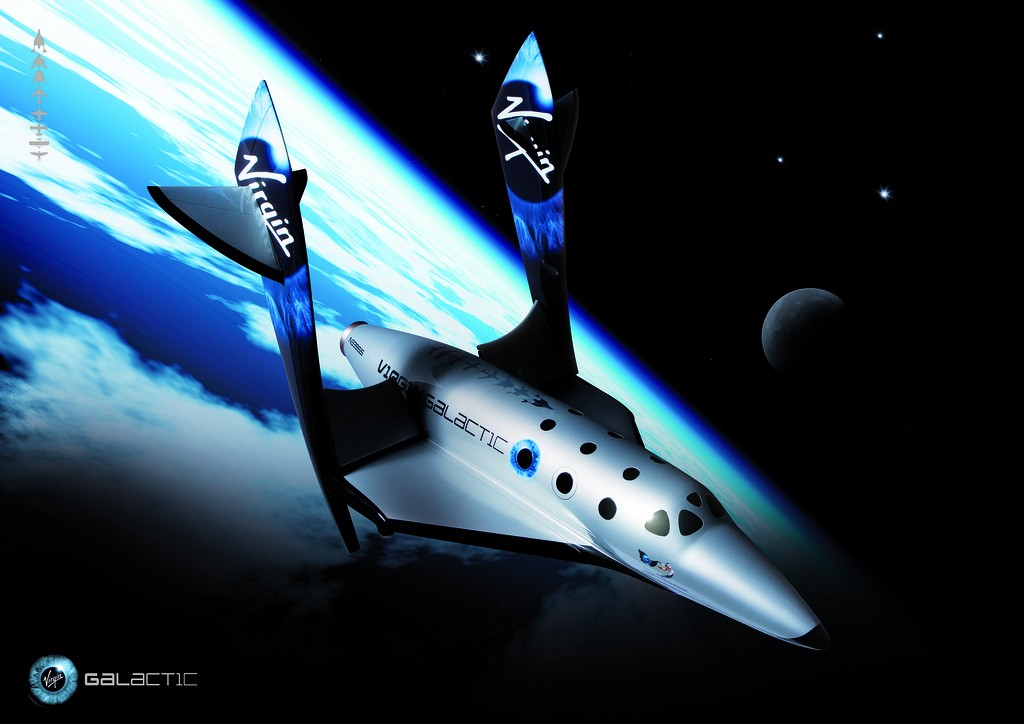 Projeto de nave da Virgin Galactic (Foto: Flickr/IrishFireside/Creative Commons)