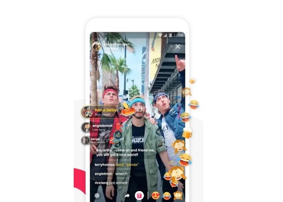 TikTok permite curtir, comentar e reagir aos vídeos de dublagens dos amigos — Foto: Divulgação/TikTok