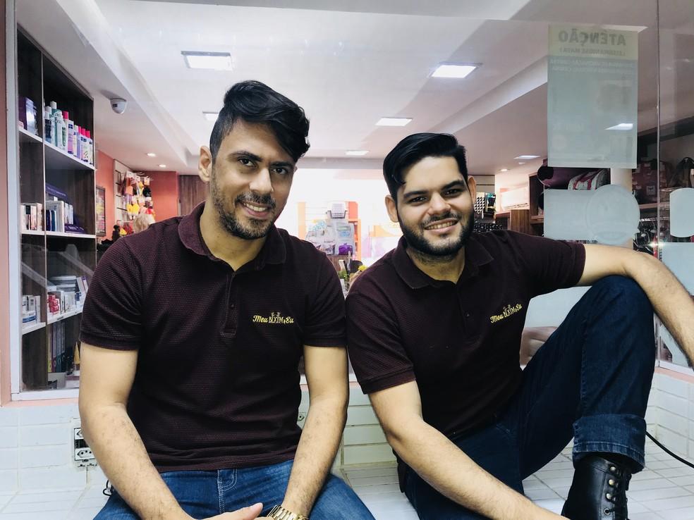 Gabriel e Rafaeel são amigos e sócios na empresa (Foto: Gabriel Matos / Arquivo Pessoal)