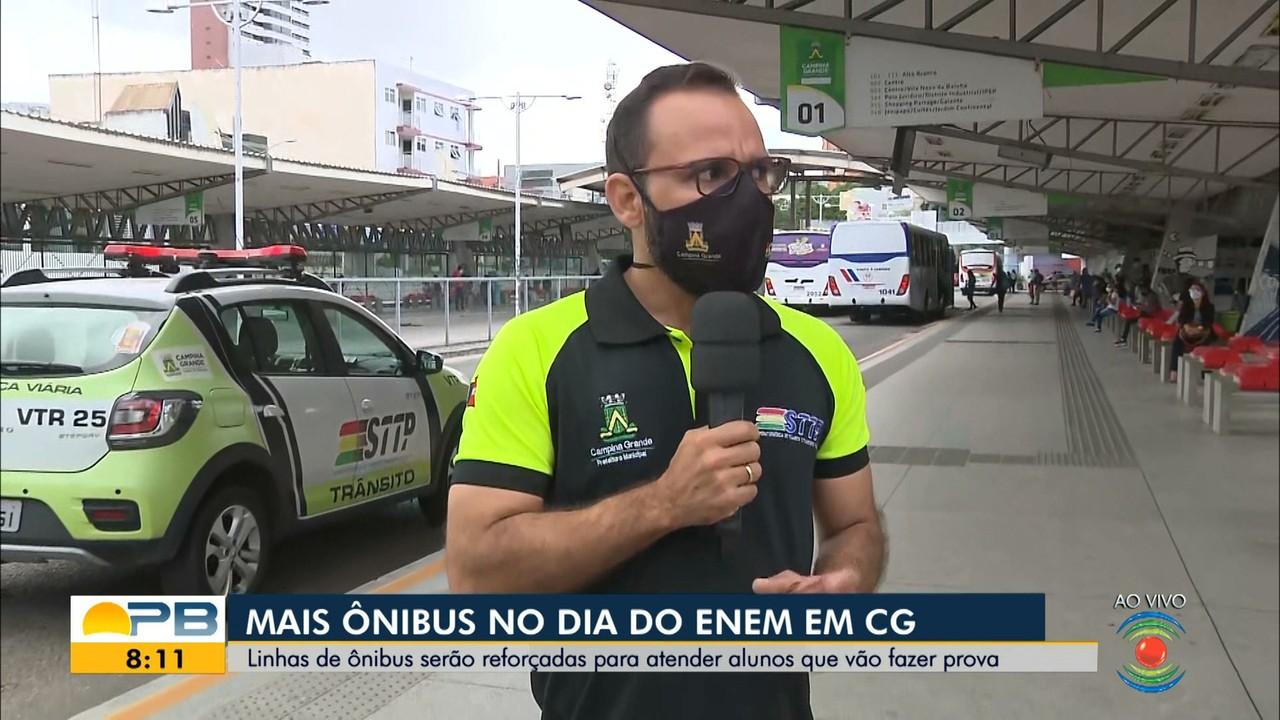 Linhas de ônibus serão reforçadas para atender candidatos ao Enem, em Campina Grande