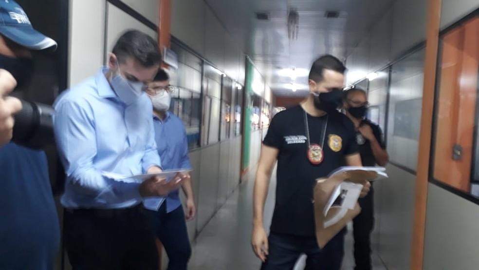Operação Stop Loss apura superfaturamento em materiais de limpeza e higiene usados no combate à Covid-19 em Rondonópolis — Foto: Emerson Sanchez/TV Centro América