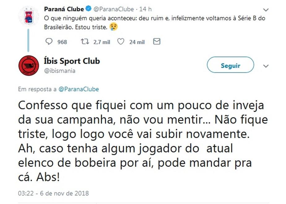 Após rebaixamento, Paraná Clube é zoado e também recebe solidariedade nas redes sociais