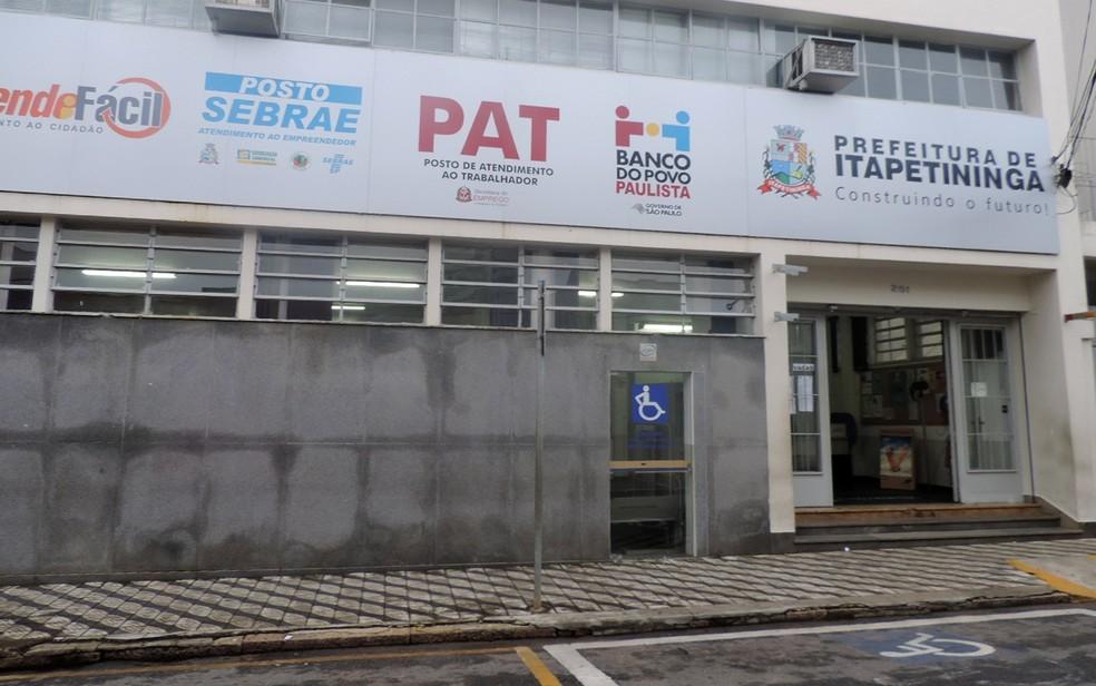PAT Itapetininga oferece vagas de emprego (Foto: Caio Gomes Silveira/ G1)