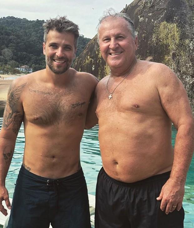 Bruno Gagliasso e Zico (Foto: Reprodução/Instagram)