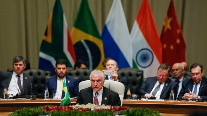 Presidente Michel Temer, em discurso: para especialistas, falta de força política do atual governo atrapalhou participação do Brasil na cúpula (Foto: CESAR ITIBERÊ/PR)