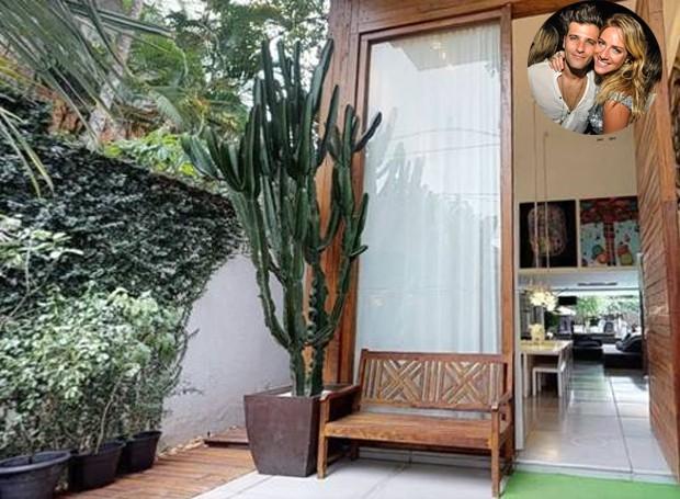Entrada da casa de Bruno Gagliasso e Giovanna Ewbank (Foto: EmCasa/ Reprodução)
