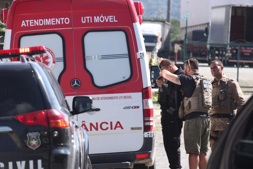 Veículo foi apreendido em Navegantes — Foto: Luiz Souza/NSC TV