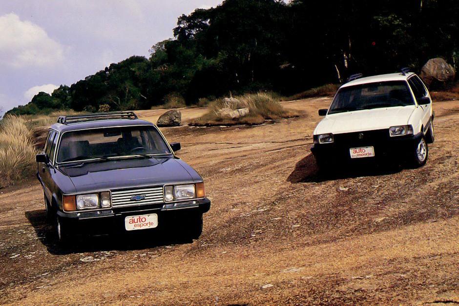 Caravan e Quantum eram as peruas de luxo da época (Foto: Arquivo/Autoesporte)
