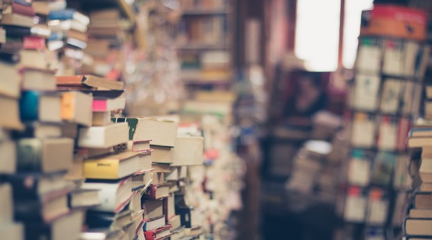 Livraria; história; livros; conhecimento (Foto: Pexels)