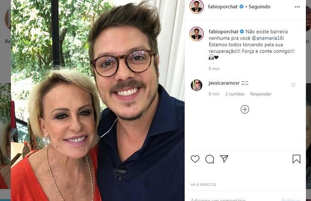 Fabio Porchat deseja força à amiga: 'Estamos todos torcendo pela sua recuperação' (Foto: Reprodução/Instagram)