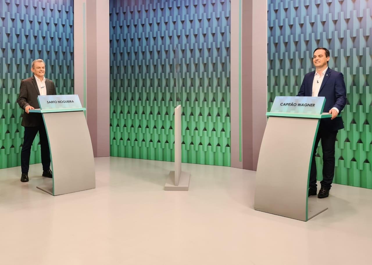 Debate da TV Verdes Mares no segundo turno com candidatos à prefeitura de Fortaleza