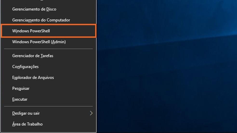 Abra o Windows PowerShell — Foto: Reprodução/Tais Carvalho