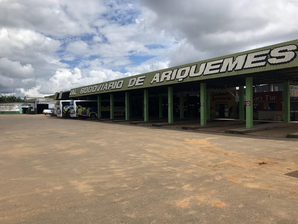 Atual terminário rodoviário de Ariquemes será transformado em Shopping Popular (Foto: Jeferson Carlos/G1)