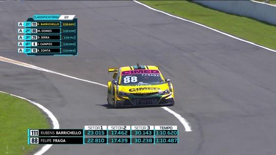 Fraga supera Barrichello no final e conquista a pole em Londrina. Líder, Serra sai em 4º
