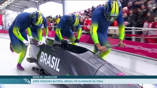 Brasil não vai à final no bobsled, mas fecha com melhor campanha da história