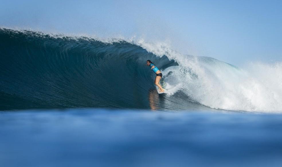 Tyler Wright defende o título mundial e da etapa havaiana em Maui (Foto: WSL / POULLENOT/AQUASHOT)