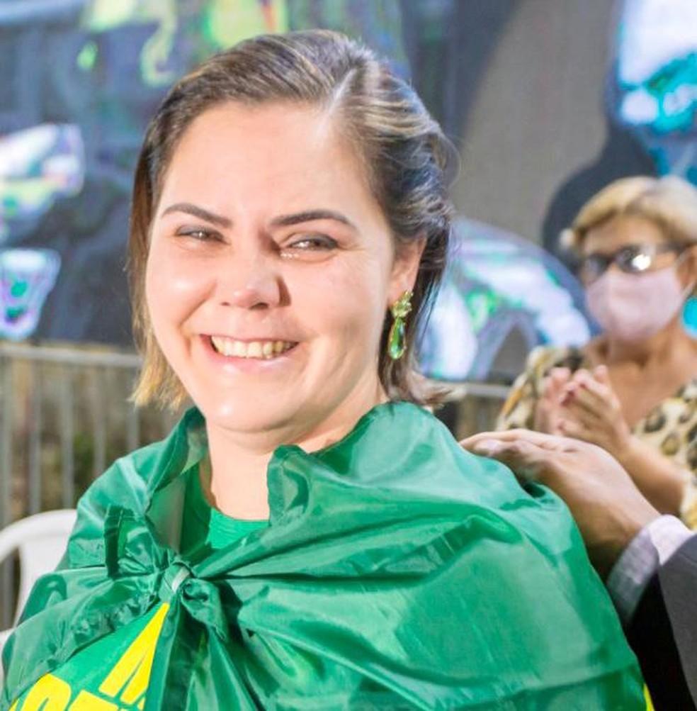 Coronel Fernanda é candidata ao Senado — Foto: Reprodução