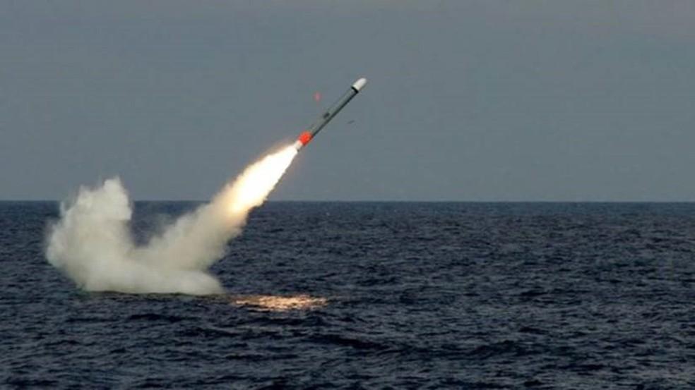 -  A Raytheon, que produz os mísseis, é uma indústria de armas americana  Foto: Raytheon/Divulgação/ BBC
