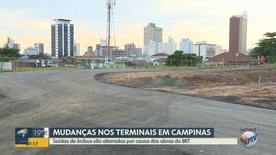 Obras do BRT mudam saídas de ônibus da Rodoviária de Campinas e do Terminal Metropolitano