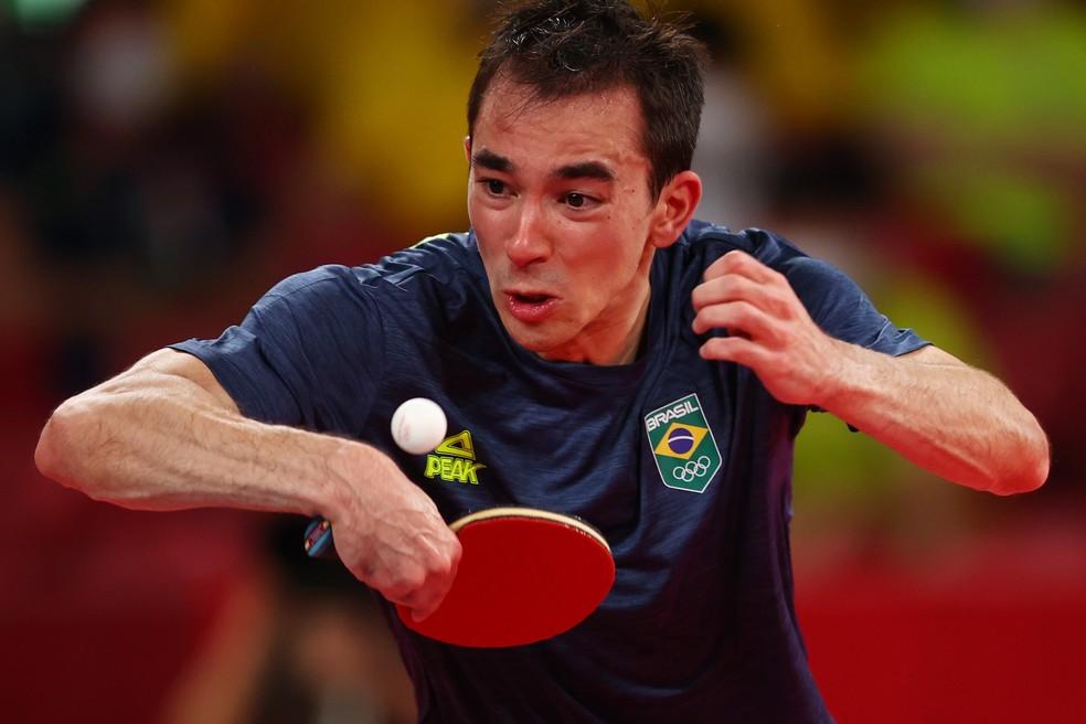 Hugo Calderano vai às quartas e alcança resultado histórico no tênis de mesa — Foto: REUTERS/Luisa Gonzalez