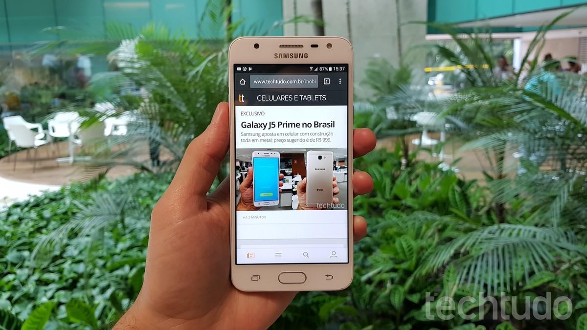 Galaxy J5 Prime Descubra O Que Mudou Em Relao Ficha Tcnica Do Samsung 16 Gb Gold Metal Celular Techtudo