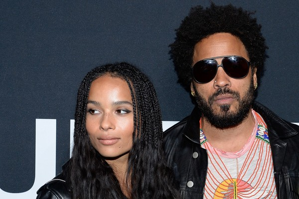 Zoe e o pai Lenny Kravitz (Foto: Getty Images)