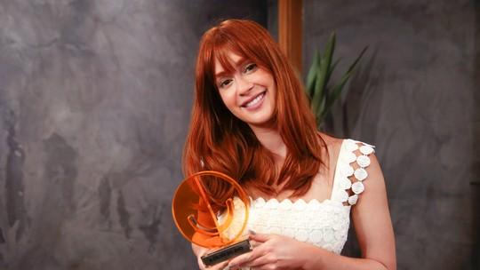 Marina Ruy Barbosa recebe 'Prêmio Gshow' e elege Glória Maria como crush: 'Empoderada'