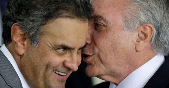 Aécio Neves e Michel Temer (Foto: Divulgação)