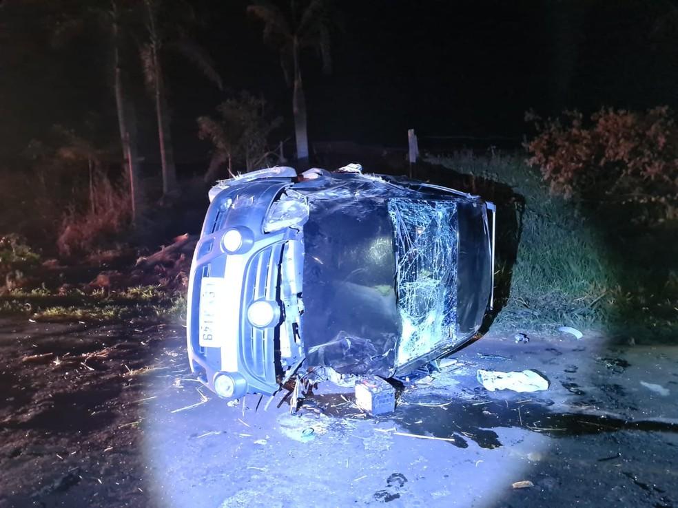 Motorista do carro fugiu sem prestar socorro após o acidente em Tupã — Foto: João Trentini/ Divulgação