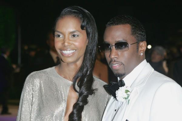 O rapper Diddy com a modelo Kim Porter (Foto: Getty Images)