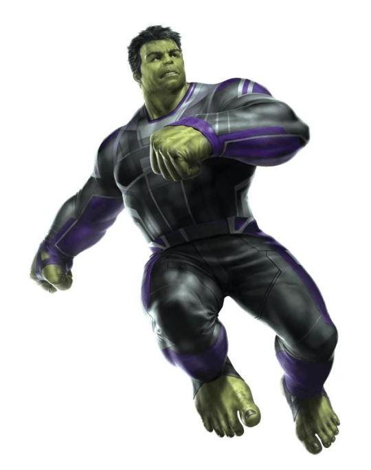 Hulk com uniforme em arte de 'Vingadores 4' (Foto: Reprodução)