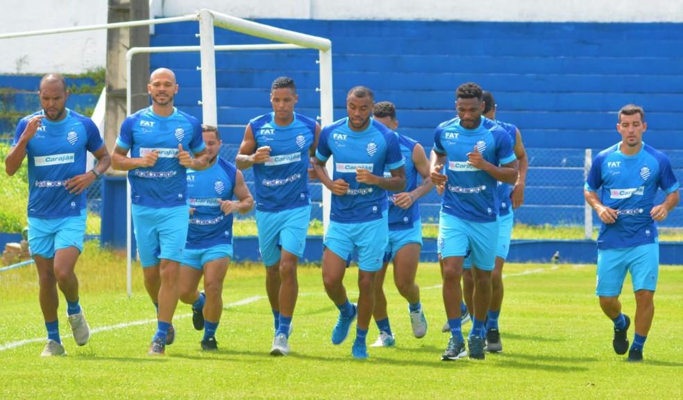 CSA faz treino físico no CT do Mutange — Foto: Augusto Oliveira/CSA