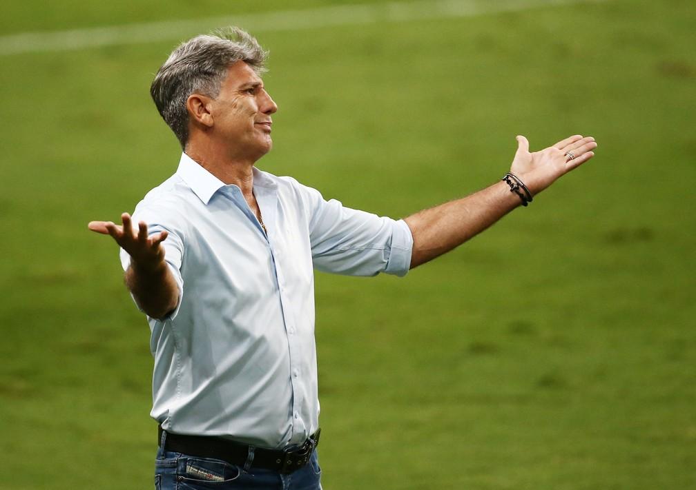 Renato Portaluppi em Grêmio x Palmeiras — Foto: Reuters
